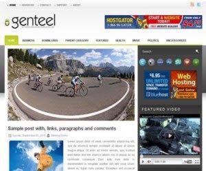 Genteen blogger template