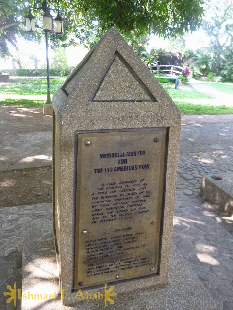Memorial marker for the 143 soldiers killed in Plaza Cuartel, Pueto Princesa, Palawan