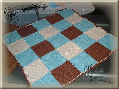 beas strickkiste baby patchworkdecke. Black Bedroom Furniture Sets. Home Design Ideas