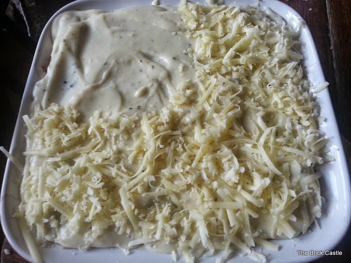 Quorn Lasagne ready to go in the oven