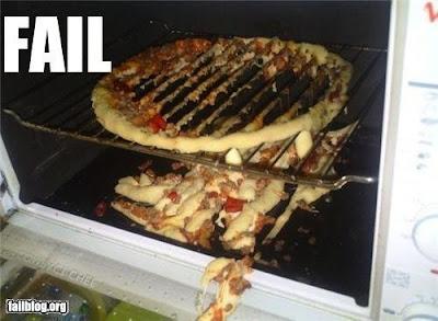 ピザの焼き上がり