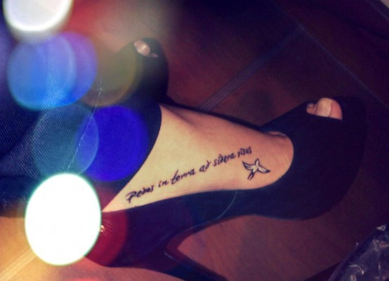 Small Quote Tattoo Tumblr