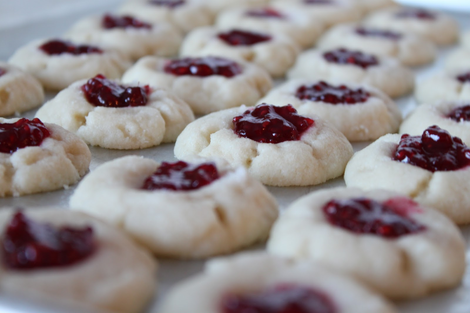 Bountiful Kitchen: Brookie's Jam Thumbprint Cookies