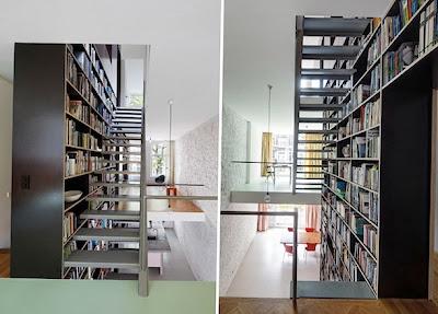 Rak Buku Sebagai Pembatas Antar Ruang 6