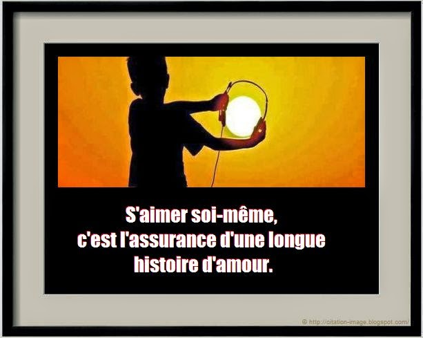 Citation sur soi en image