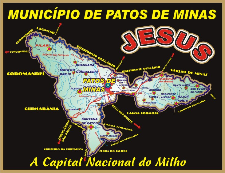 Patos de Minas * Mapa do Município