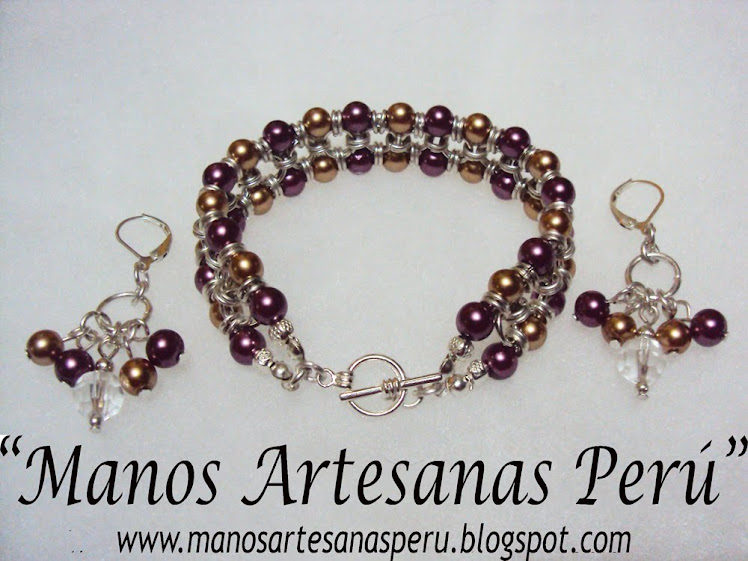 NEW!!! Mauve Chic_chain bracelet and  earrings.