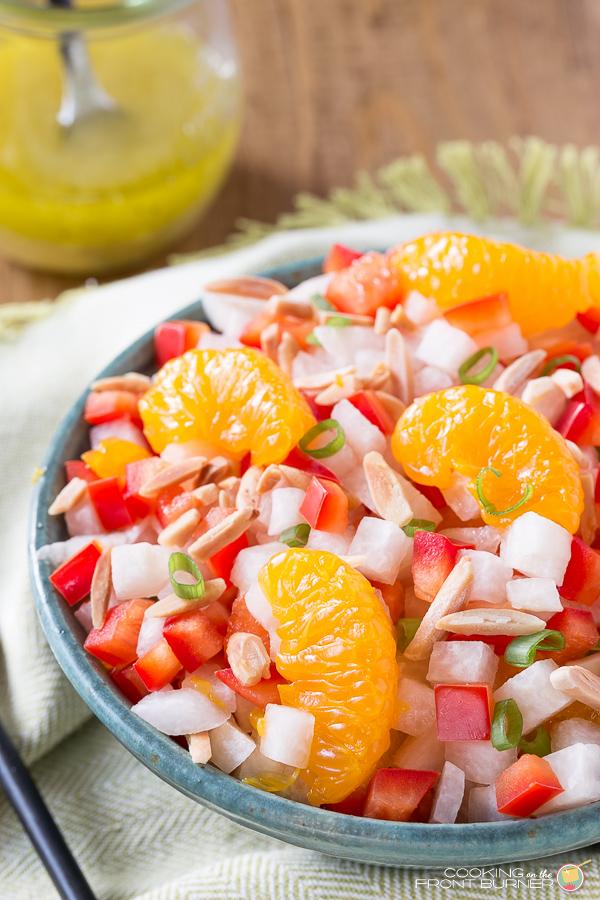 Jicama Salad with Asian Vinaigrette | Cooking on the Front Burner