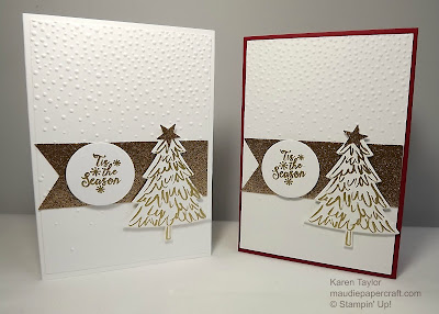 Stampin' Up! Peaceful Pines Christmas cards