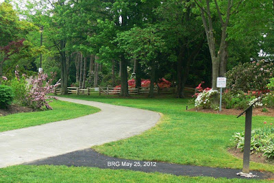 New paved path to Kennedy Memorial Plaque at BRG.
