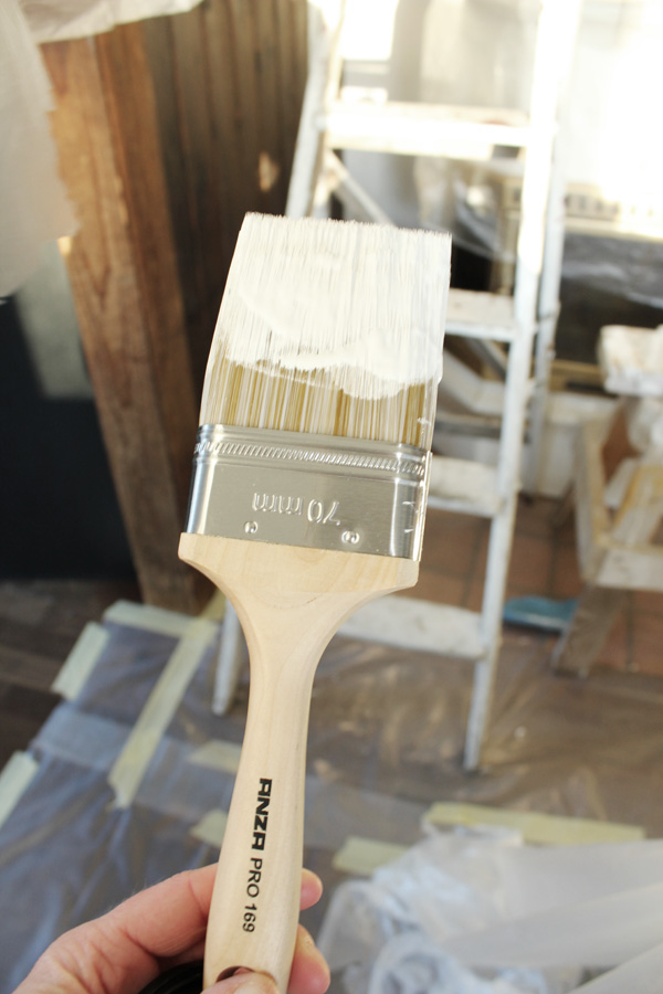 Anza pro pensel att måla taket och panel med. Bra målarpensel som proffs använder.