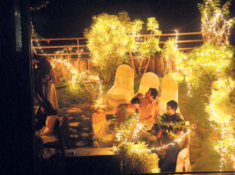 Photos from Saif's place where the Sangeet ceremony took place