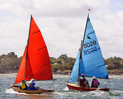 This scow Moth Maggie was just recently built by Ray Eades over two ...
