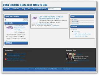 Responsive HTML5 V6 Blue Edition