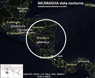 NICARAGUA GOOGLE EARTH (vista nocturna) 2012