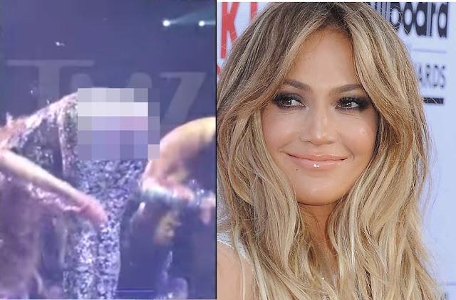 Jennifer Lopez mostró el trasero en Las Vegas