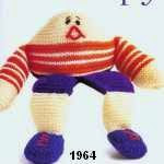 patron gratis muñeco Humpty amigurumi de punto, free knit amigurumi pattern Humpty doll