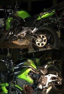 gambar motor kawasaki milik UJE Ustads Jeffry
