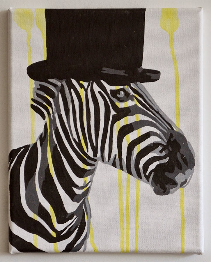 Zebra wearing a top hat stir fry willie art zebra wearing a top hat altavistaventures Images