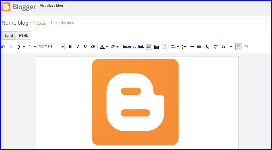 Interfaccia Blogger Editor Post Limiti massimi post pagine immagini etichette