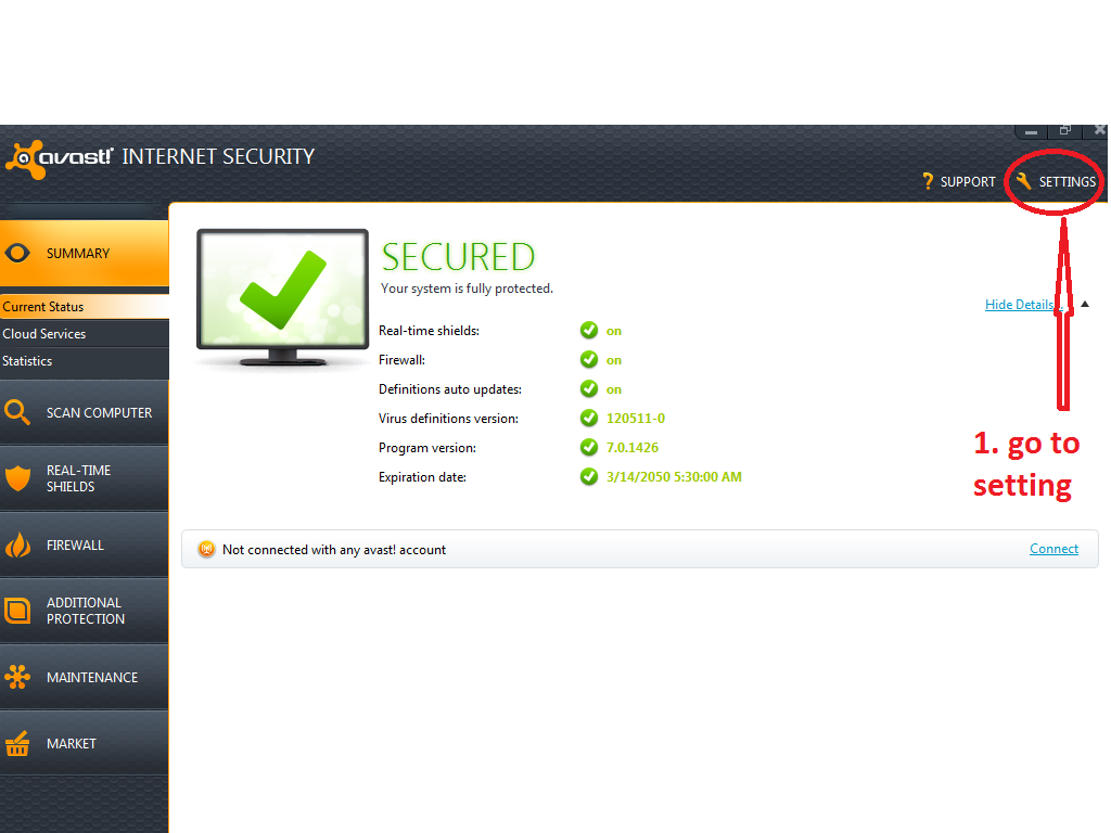 avast internet security pro key