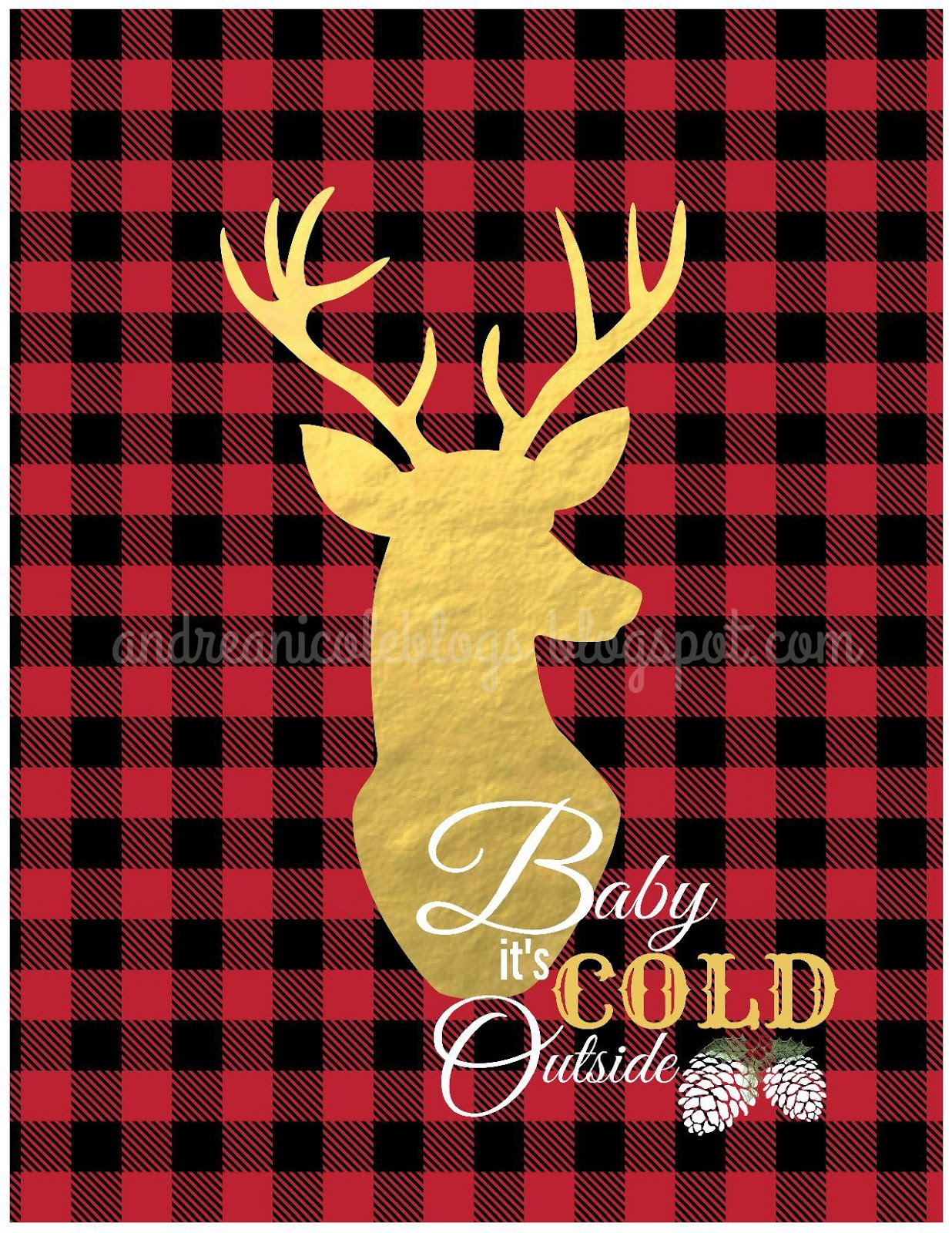 Andrea Nicole: Baby It\'s Cold Outside Wall Decor {Free Printable}