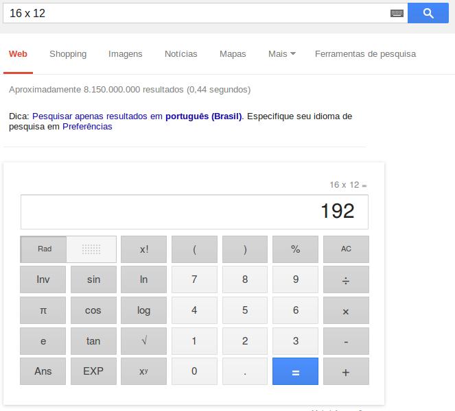 DominioTXT - Google Calculadora