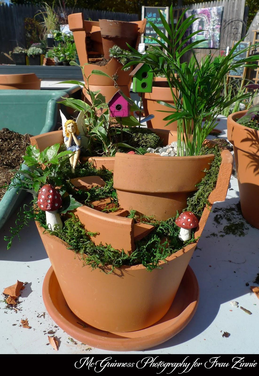 Make Your Own Broken Clay Pot Fairy Garden | Frau Zinnie | Garden ...