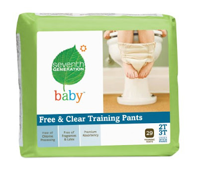 Seventh Generation Free and Clear Training Pants 2T 3T Seventh Generation Free & Clear Diapers Giveaway