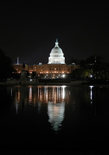 The Capital Building at night