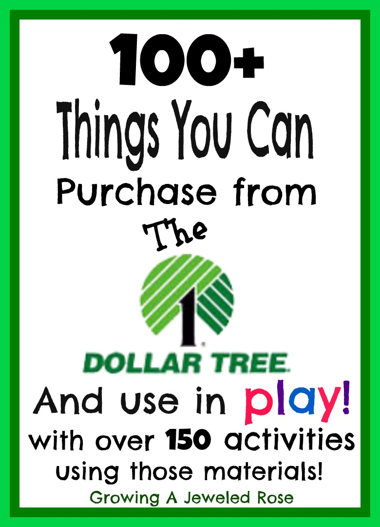 100 Things You Can Purchase from the Dollar Tree and Use in Play ...