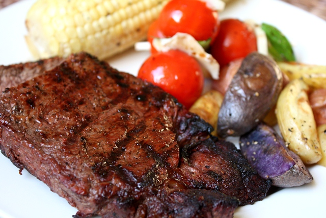 Grilled Steak and Corn recipe by Barefeet In The Kitchen