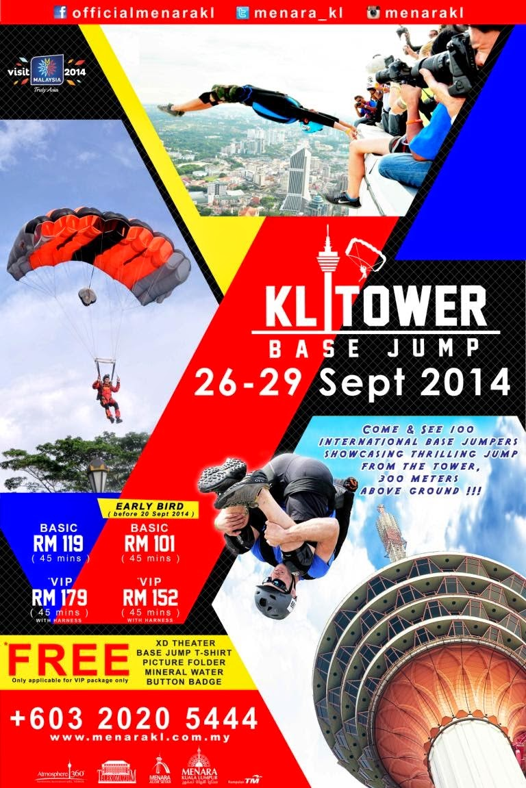 Don't Miss to See the 'KL Tower BASE Jump 2014'!