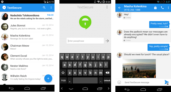 TextSecure-Private-Messenger
