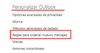 personalizar outlook