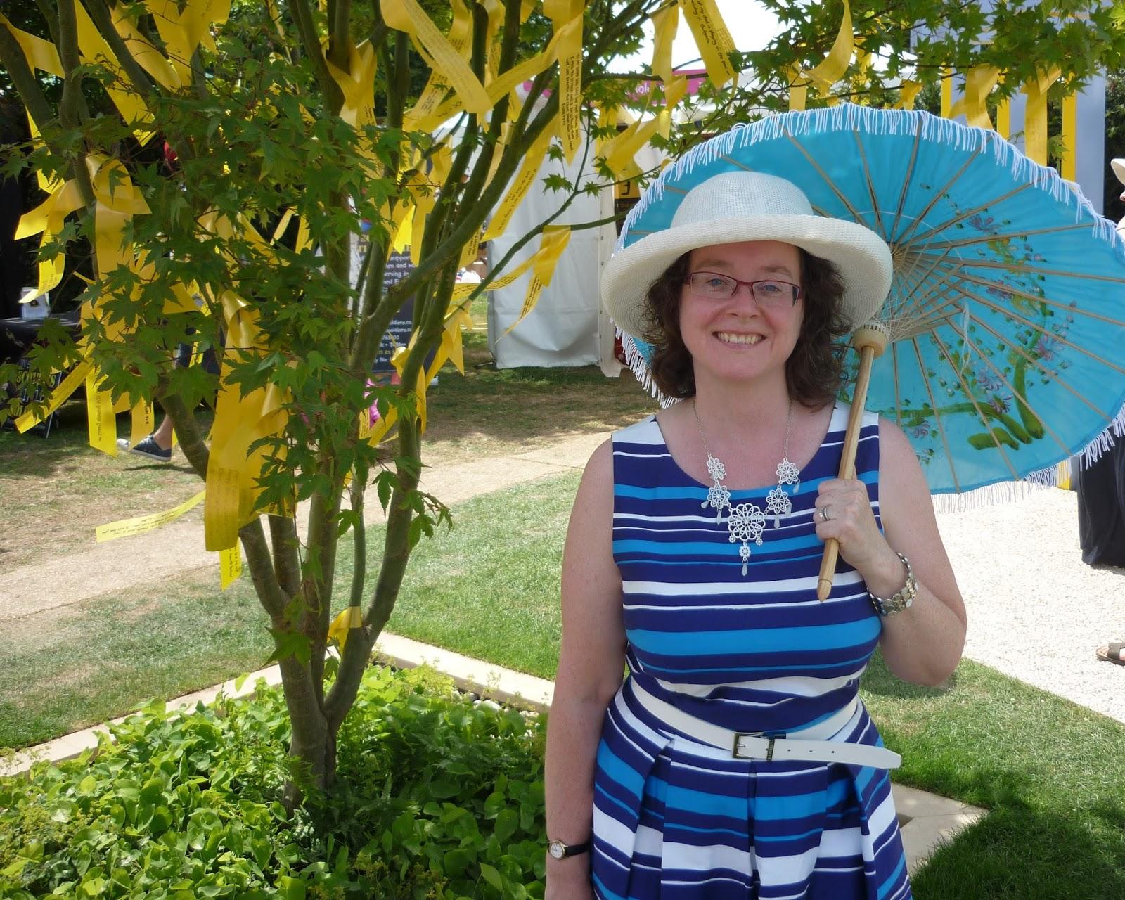 Dress and Blue Parasol; PetiteSilverVixen