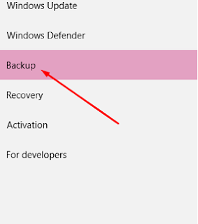 backup option windows 10