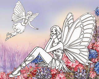 fairy fairies faerie faeries coloring pages coloring.filminspector.com
