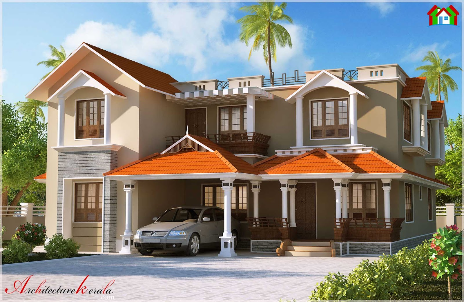 Kerala style dream home elevations 3000 sq ft for Design your dream home