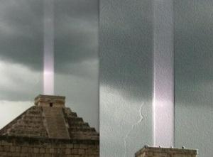 Attention ! Les pyramides se réveillent... Mayanbeam