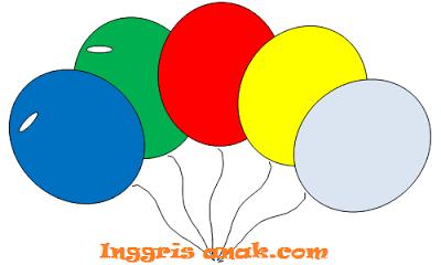 Bahasa Inggris Anak: Balonku ada lima