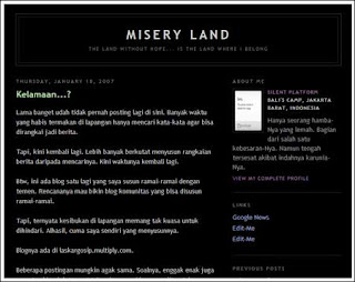 Blog Misery Land