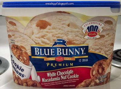 One step at a time blue bunny cookie creations white for White chocolate macadamia nut ice cream