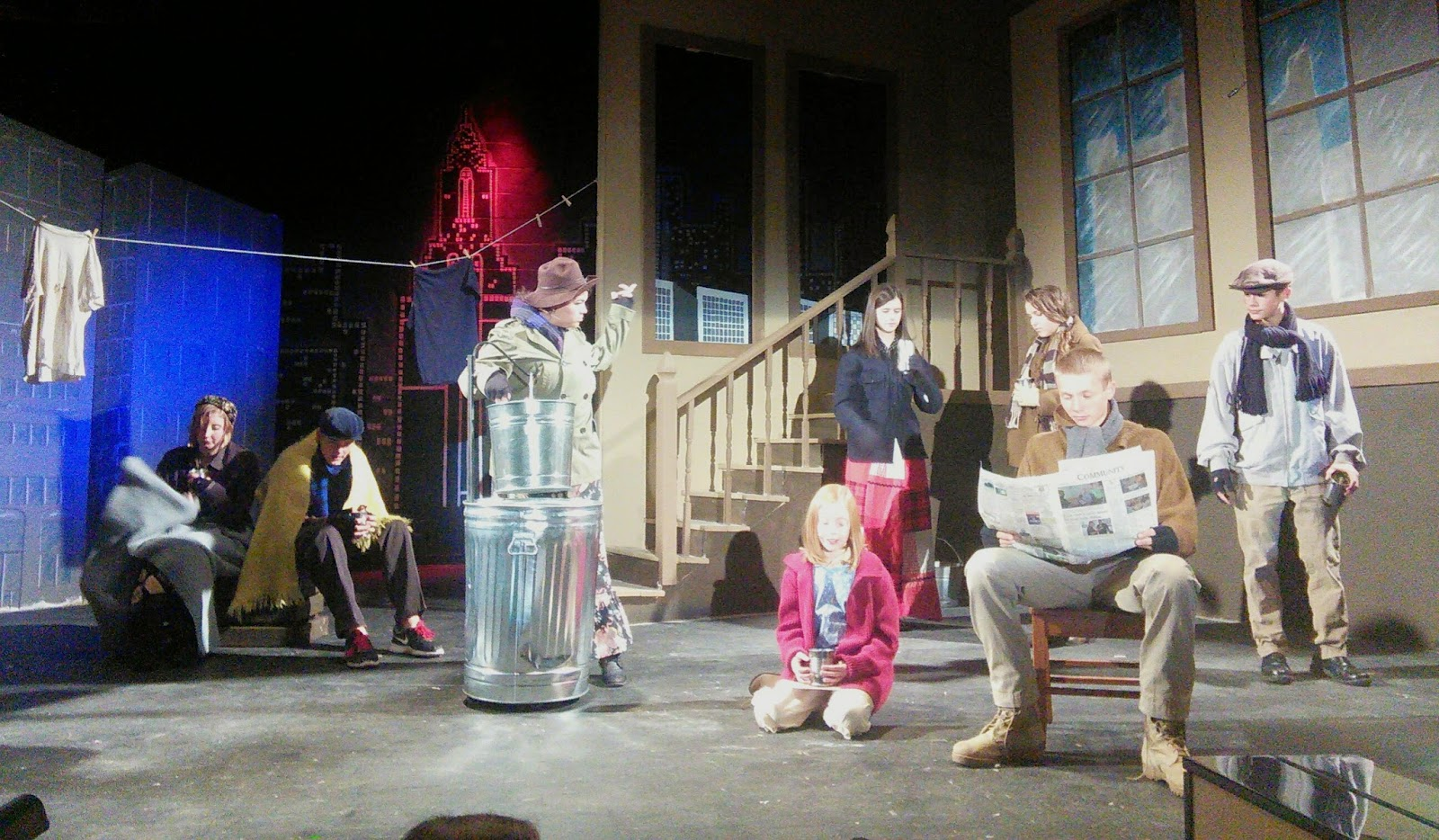 Shantytown scene from the musical Annie