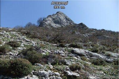 Artzanegi visto desde el barranco