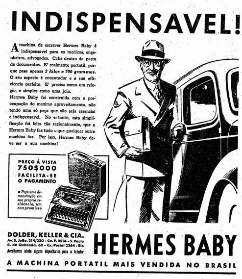 Confira uma propaganda de uma máquina de escrever revolucionária, diretamente de 1937: