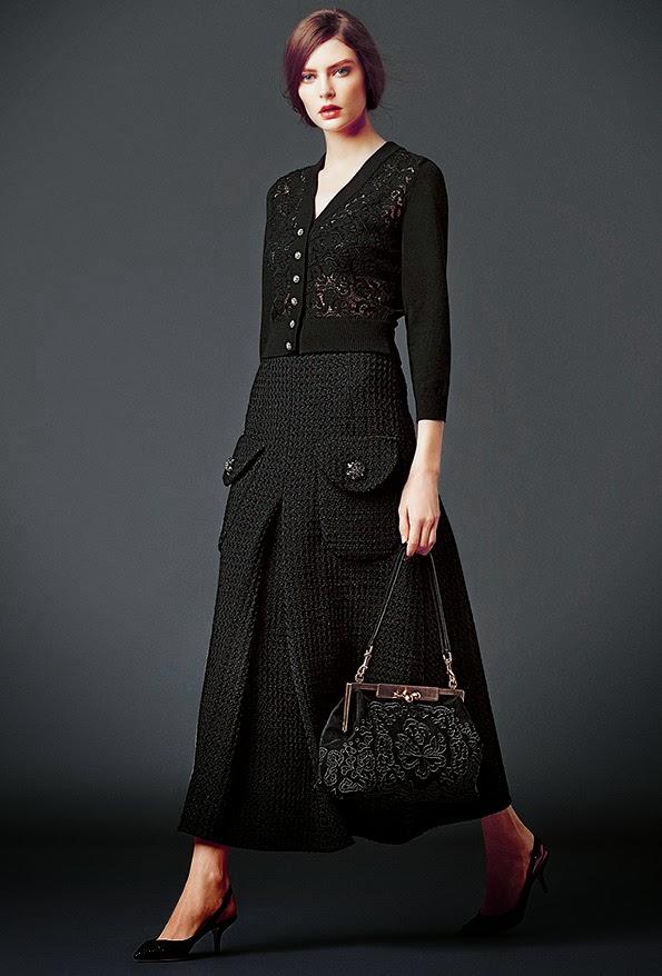 dolce and gabbana black lace modest midi skirt stylish beautiful fashion Mode-sty jewish tznius mormon lds christian pentecostal muslim islamic