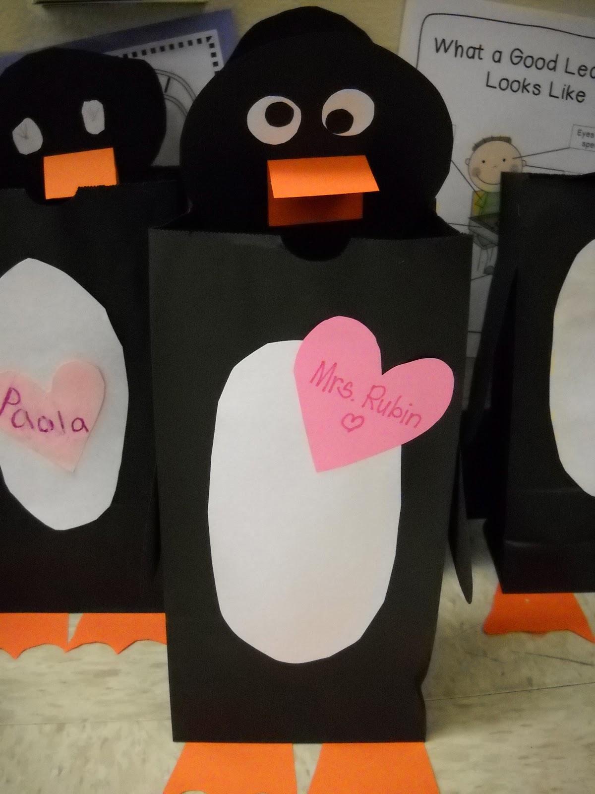 penguin valentine bags
