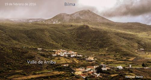 Tenerife se cubre de blanco.