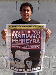 JUAN CRUZ, TRABAJADOR JUDICIAL Y DIRIGENTE DE LA AJB DPTAL., TAMBIÉN PIDE JUSTICIA POR MARIANO